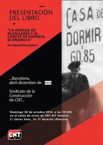 xerrada de la vaga de Llogers a Almeria  el proper diumenge30 d'octubre