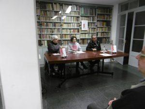 Taula Presentació Manel Aisa, Valeria Giacomoni, Carles Sanz