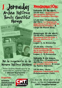 Vaga de Llogers anarquisme presentació Biblioteca Tomás González Morago